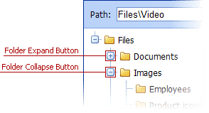 ASPxFileManager - Expand Buttons