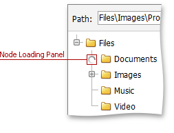 ASPxFileManager - NodeLoading Panel