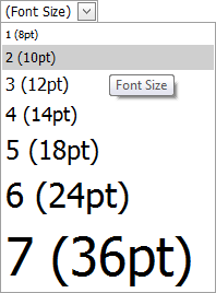 ASPxHtmlEditor-Concepts-WorkWithContent-FontSize-DropDown