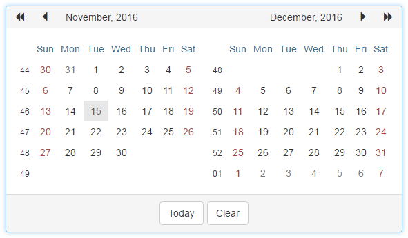 BootstrapCalendar_MultiMonthView