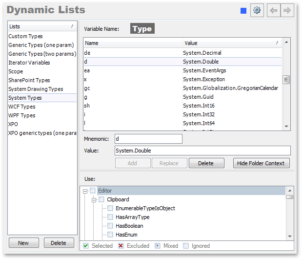 opDynamicLists