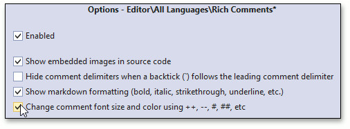 Rich Comments | CodeRush | DevExpress Documentation