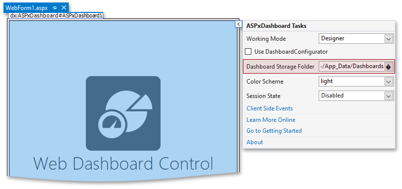 Create an ASP NET Web Forms Dashboard Application | Dashboard