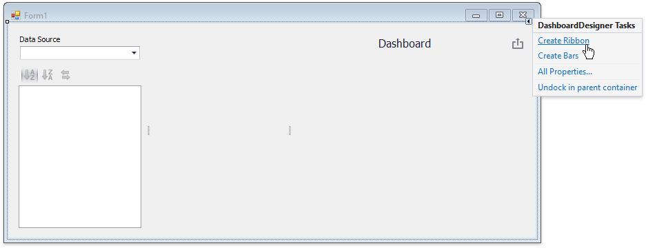 Create a WinForms Designer   Dashboard   DevExpress