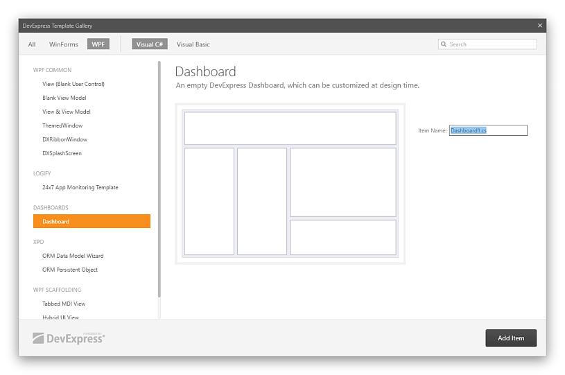 Create a Dashboard in Visual Studio | Dashboard | DevExpress