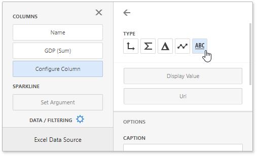 Hyperlink Column | Dashboard | DevExpress Documentation