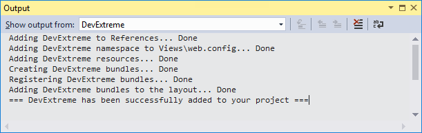 Project Converter Output Window