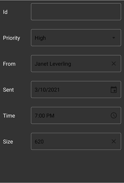 EditFormView FontColor Property   Mobile UI Controls