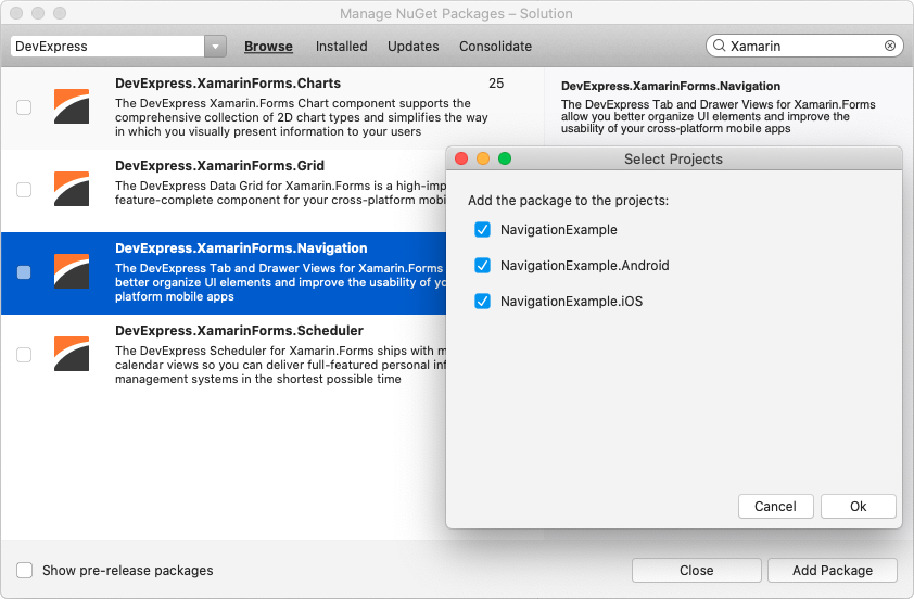 Install NuGet Package - Visual Studio for Mac