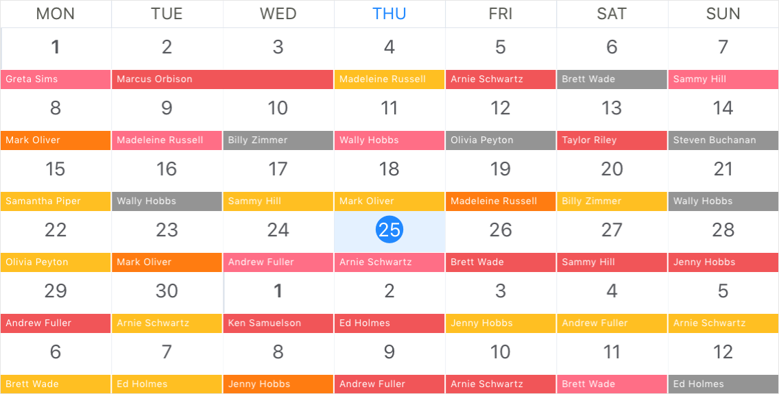Month View](xref:DevExpress.XamarinForms.Scheduler.MonthView)