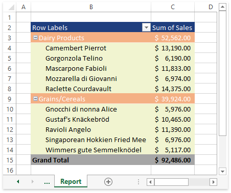 SpreadsheetPivotTable_Examples_ApplyCustomStyle