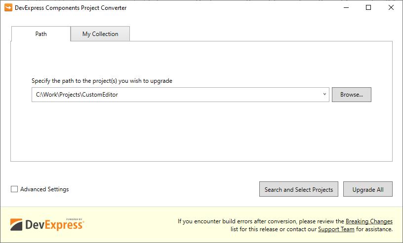 Project Converter | Project Converter | DevExpress Documentation