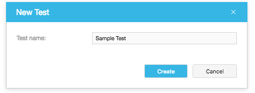 Creating a Test