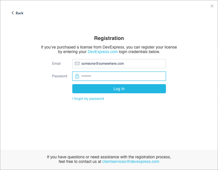 Registration Login Form