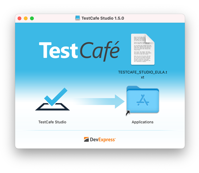 Install TestCafe Studio on Mac