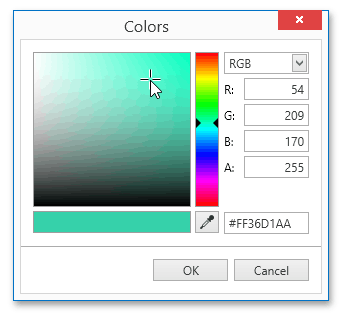 ColorEdit Visual Elements More Colors Dialog