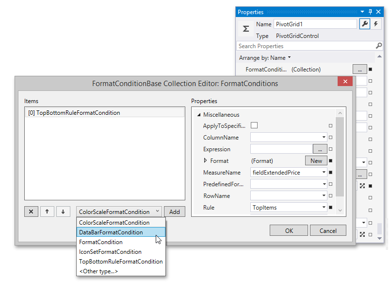 Conditional Formatting - Format Condition Editor