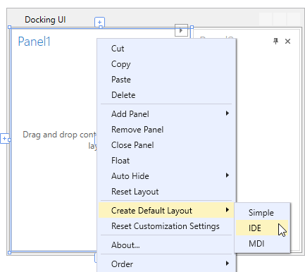 Dock Layout Manager Lesson 1 - Select a Predefined Layout