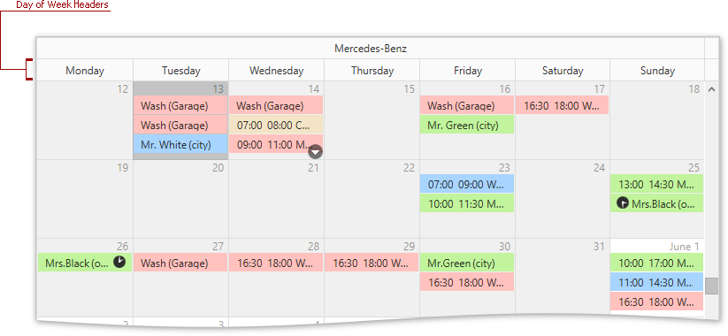 DXScheduler_DayOfWeek_Header