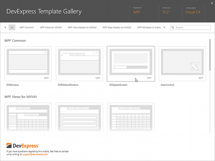 DXSplashScreen-ProjectItemTemplate