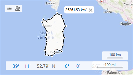 Map Area Ruler