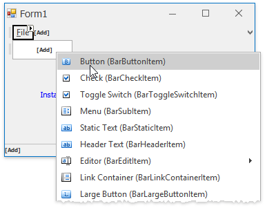Bars - Add Items To Menus
