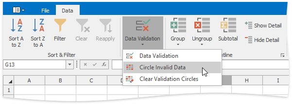 DataValidationRibbon