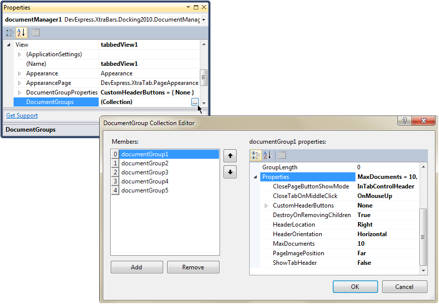 Document Group Collection Editor