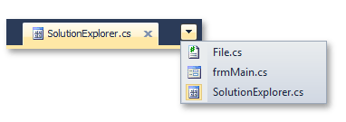 Document Selector Button