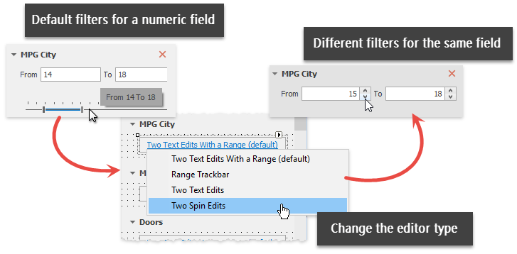 Filtering UI Context - Change Type