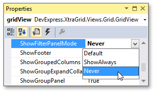 GridView_Filtering_ShowFilterPanelModeProperty