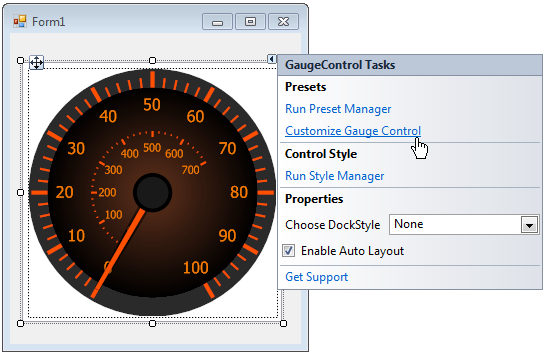 Lesson - Customize Gauge Control