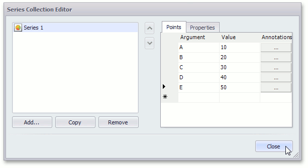 PieSeriesCollectionEditor