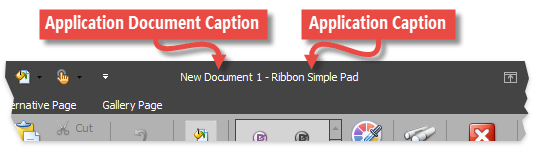 RibbonForm - Compound Captions