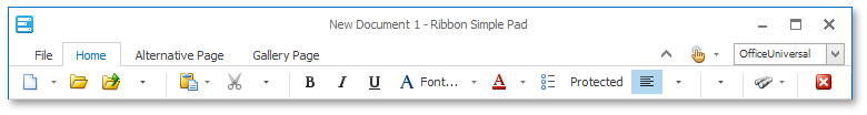 Ribbon Control - OfficeUniversal