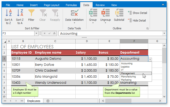 Spreadsheet_MainPage_Validation