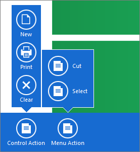 WindowsUIView - Popup Actions Collage