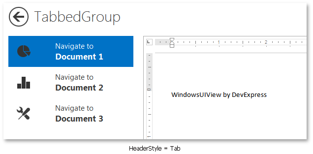 WindowsUIView - TabbedGroup Tab Headers