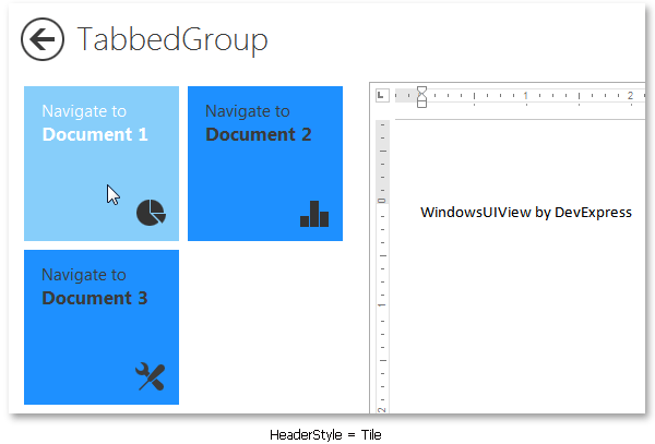 WindowsUIView - TabbedGroup Tile Headers