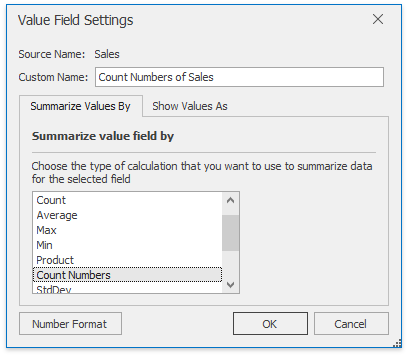 XtraSpreadsheet_ValueFieldSettingsDialog_SummarizeValuesBy