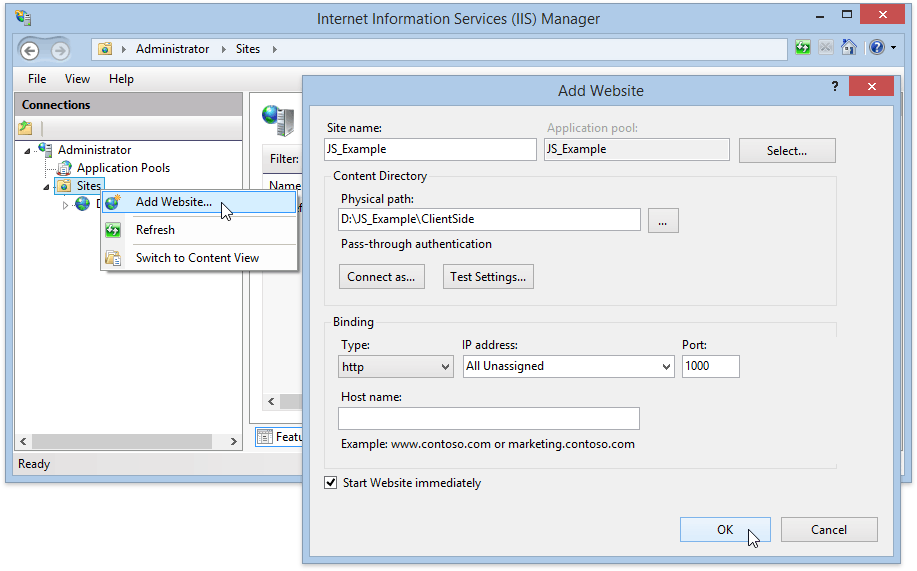 host-javascript-example-in-iis