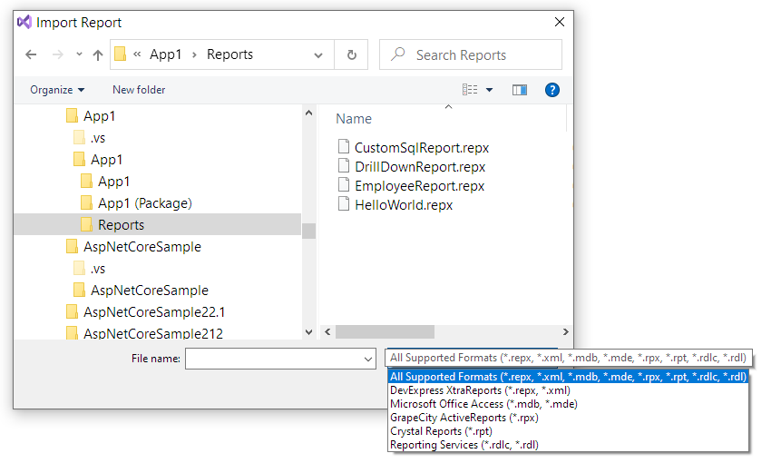import-dialog-visual-studio
