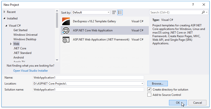 new-project-dialog-asp-net-core-application