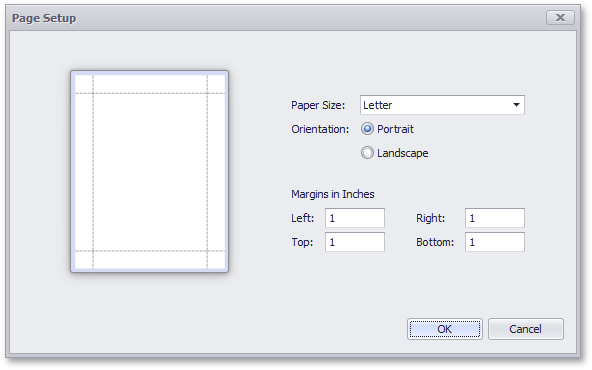 Specify Print Settings | Reporting | DevExpress Documentation