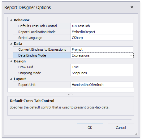 report-designer-options-dialog