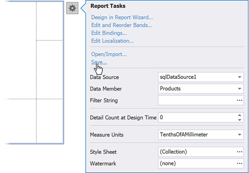 save-report-defintion-visual-studio-design-time