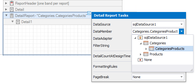 winforms-getting-started-detail-report-data-member-smart-tag