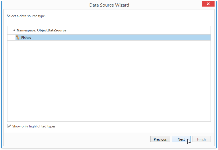 WpfReportWizard_Object_SelectDataSourceType