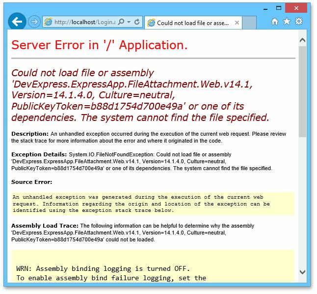 Deployment Troubleshooting Guide   eXpressApp Framework