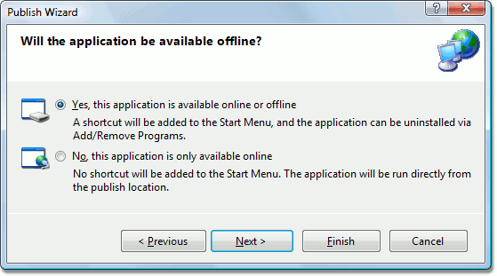 Publish Wizard Deployment of a Windows Forms Application